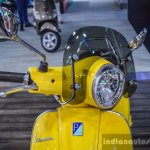 Vespa VXL 150 yellow impact resistant visor at Auto Expo 2016