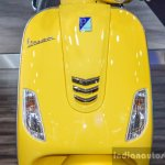 Vespa VXL 150 yellow indicators at Auto Expo 2016
