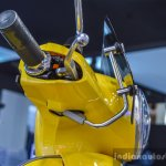 Vespa VXL 150 yellow visor mount at Auto Expo 2016