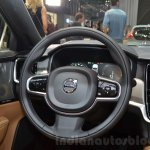 Volvo S90 steering wheel at the 2016 Geneva Motor Show Live