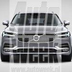 Volvo V90 front leaked