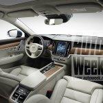 Volvo V90 interior leaked