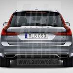 Volvo V90 rear leaked