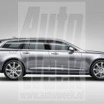Volvo V90 side profile leaked