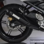 Yamaha R15S exhaust at Auto Expo 2016