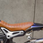 2016 BMW R nineT Scrambler brown seat at 2016 BIMS