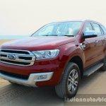 2016 Ford Endeavour 2.2 AT Titanium front quarter Review