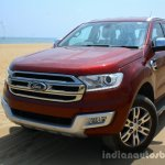 2016 Ford Endeavour 2.2 AT Titanium front quarter toe in Review