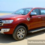 2016 Ford Endeavour 2.2 AT Titanium front three quarter Review