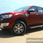 2016 Ford Endeavour 2.2 AT Titanium front three quarter low Review
