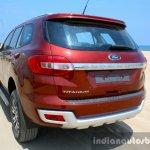 2016 Ford Endeavour 2.2 AT Titanium rear quarter close Review