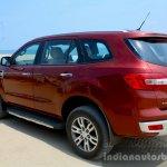 2016 Ford Endeavour 2.2 AT Titanium rear three quarter Review