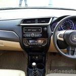 2016 Honda Amaze 1.2 VX (facelift) dashboard First Drive Review