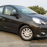 2016 Honda Amaze 1.2 VX (facelift) front three quarter close First Drive Review