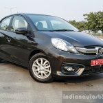 2016 Honda Amaze 1.2 VX (facelift) front three quarter toe in First Drive Review