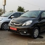 2016 Honda Amaze 1.2 VX (facelift) old vs new front three quarter First Drive Review