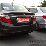 2016 Honda Amaze 1.2 VX (facelift) old vs new rear First Drive Review