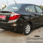 2016 Honda Amaze 1.2 VX (facelift) rear three quarter toe out First Drive Review