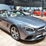 2016 Mercedes SL front three quarters at the 2016 Geneva Motor Show