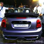 2016 Mini Convertible rear India launched