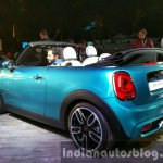 2016 Mini Convertible rear angle India launched