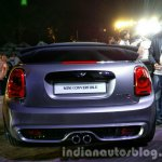 2016 Mini Convertible rear end India launched