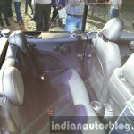 2016 Mini Convertible rear seat India launched