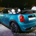 2016 Mini Convertible rear three quarter India launched