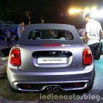 2016 Mini Convertible roof up rear India launched