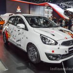 2016 Mitsubishi Mirage front three quarters at 2016 Bangkok International Motor Show