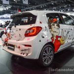 2016 Mitsubishi Mirage rear three quarters at 2016 Bangkok International Motor Show