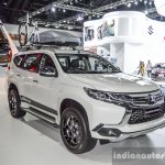 2016 Mitsubishi Pajero Sport front right three quarter at 2016 BIMC