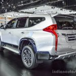 2016 Mitsubishi Pajero Sport rear three quarter at 2016 BIMC
