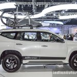 2016 Mitsubishi Pajero Sport side white at 2016 BIMC