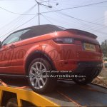 2016 Range Rover Evoque Convertible rear three quarters spy shot