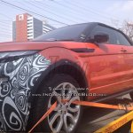 2016 Range Rover Evoque Convertible test mule spied India