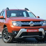 2016 Renault Duster facelift AMT front quarters Review