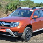 2016 Renault Duster facelift AMT front three quarter Review