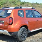 2016 Renault Duster facelift AMT rear three quarters Review