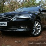 2016 Skoda Superb Laurin & Klement front quarter toe in First Drive Review