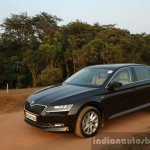 2016 Skoda Superb Laurin & Klement front quarter top First Drive Review