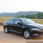 2016 Skoda Superb Laurin & Klement front three quarter First Drive Review