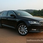 2016 Skoda Superb Laurin & Klement front three quarter close First Drive Review