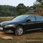 2016 Skoda Superb Laurin & Klement front three quarter darker First Drive Review