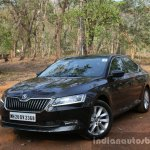 2016 Skoda Superb Laurin & Klement front three quarter toe in First Drive Review