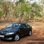 2016 Skoda Superb Laurin & Klement front three quarter toe in far First Drive Review