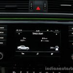 2016 Skoda Superb Laurin & Klement infotainment screen First Drive Review