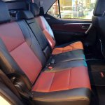 2016 Toyota Fortuner TRD Sportivo seat upholstery launched in Thailand
