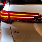 2016 Toyota Fortuner TRD Sportivo tail light launched in Thailand
