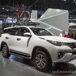 2016 Toyota Fortuner White front quarter at 2016 BIMS